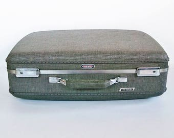 Mid Century American Tourister Tri-Taper Suitcase with Key