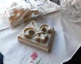 Fleur~de~lis / Gardenia Lily Scented  Soap. Hand Crafted Vegan Organic Castille Soap. Oatmeal, Vitamin E Nourishing face body Wash