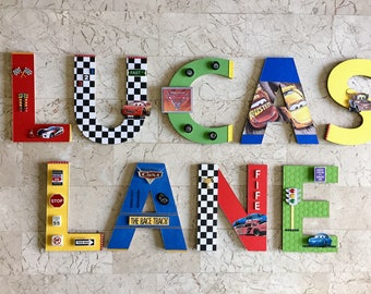 New Disney Cars 3 Wall Letters, Primary Colors, New Disney Cars 3 Characters  And Part 86