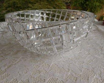 Claus Josef Riedel Diamond Cut Crystal Bowl Art Glass