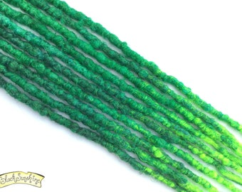 Green SE x10 Crochet Synthetic Dreads  - accent