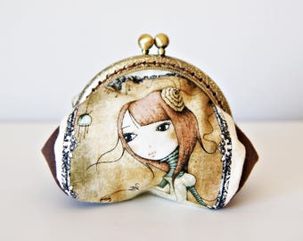 Mirabelle Butterfly Purse Frame Bag. Printed Cotton Fabric. Metal Purse Frame.