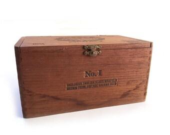 Excalibur Wooden Cigar Box No.1 Hoyo de Monterrey de Jose Gener Vintage Tobacciana Collectible Cigar Boxes Havana Seed