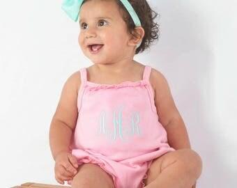 Girl Summer Outfit Baby Girl Summer Outfit Baby Girl Bubble Romper Monogrammed Outfit Baby Girl Gift Baby Girl Romper