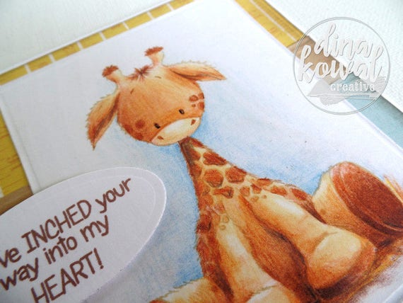 handmade greeting cards - Baby Giraffe Love