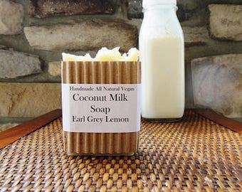 SOAP, Earl Grey Coconut Milk VEGAN Soap , Handmade Soap, Vegan Soap, Freshly Made Soap, Palm Free Soap, Earl Grey Soap