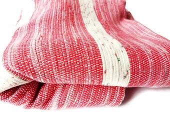 Vintage LARGE Woven Rag Rug Carpet/ Handwoven Throw Rug/ Boho Rug /Rustic Throw Blanket / 4.5 x 6 Feet