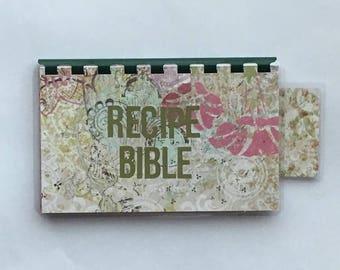 Handmade Hunter Green 'Recipe Bible' Blank Recipe book for Personal Recipes