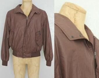 30% OFF 1980's Men's Members Only Jacket in Chocolate Brown Sz 44