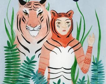 Paper Tigers - Archival Art Print