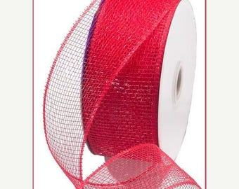 SUPPLY SALE 2.5 Inch Red Poly Deco Mesh RS200024, Poly Mesh Supplies