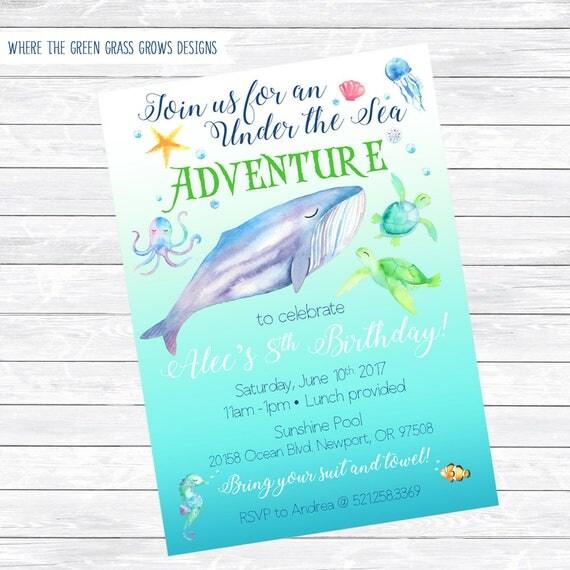 Under the Sea Invitations Printable