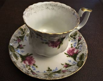 Lovely Little Demitasse Cup and Saucer from Czechoslovakia