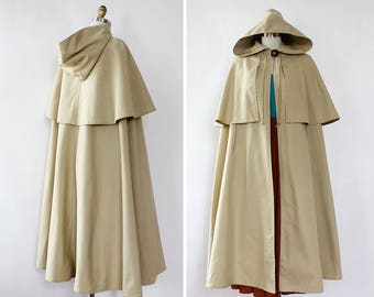Vintage Cape Coat • 70s Cape • Hooded Cape Coat • Young Dimensions Hooded Cape • 70s Trench Coat • 70s Jacket • Hooded Trench | O452