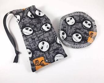 Menstrual Cup Bag Halloween Jack Skellington
