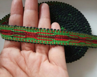 Uzbek color woven trim Jiyak. Ethnic Boho, Hippy trim. NTR046