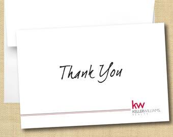 Set of Thank You Cards - Keller Williams Handwritten Font