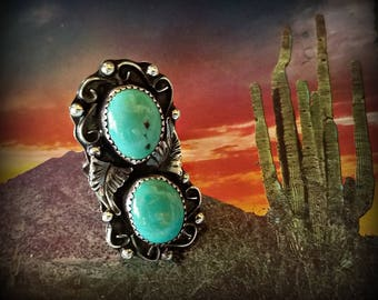 Vintage Native American Silver Turquoise Ring