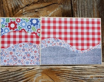 Fourth of July Handmade note card set