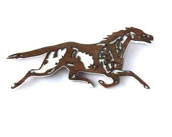 Wild Horses Equestrian Horse Pony Brumby Ranch Brooch