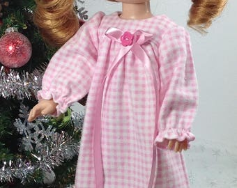 14inch doll clothes-fits like Wellie Wisher-Pink Nightgown and Slippers-Christmas-Stocking Stuffer