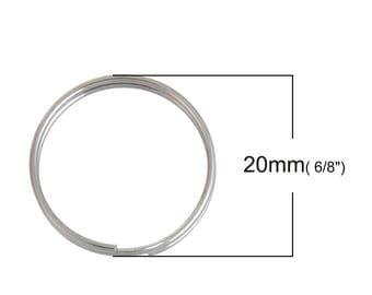 30 pcs. 304 Stainless Steel Split Rings Key Rings - 20mm (0.79 inch) - Hypoallergenic! Tarnish Resistant! - 2mm Thick