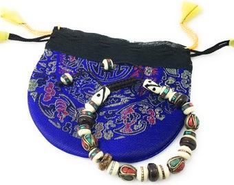 Tibet Healing multi color bead wrist mala yoga bracelet