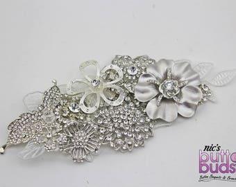 Bridal Hairpiece - sparkling silver