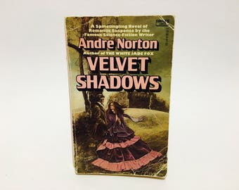 Vintage Gothic Romance Book Velvet Shadows by Andre Norton 1977 Paperback