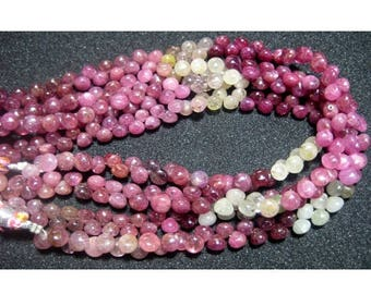 ON SALE 55% Sapphire Beads/ Multi Sapphire/ Onion Briolettes/ 6mm Beads/ 42 Pieces/ 5 Inch Half Strand