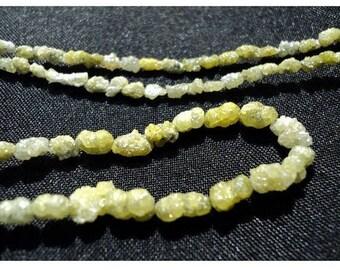 ON SALE 55% Yellow Diamonds, Raw Diamonds, Conflict Free Diamond, Rough Diamond Tumbles 3mm To 5mm Beads, 4 inch Quarter Strand