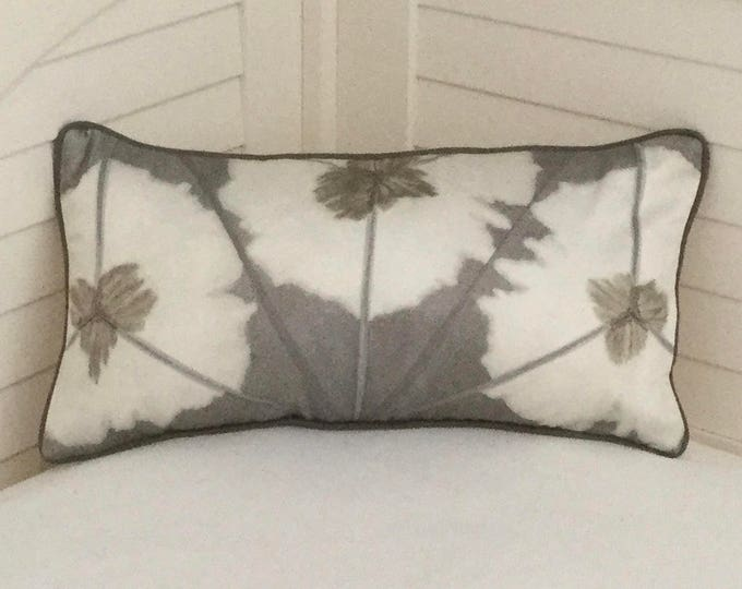 Thibaut Sunburst in Gray on Both Sides Designer Pillow Cover with or without Piping - Square, Lumbar and Euro Sizes - Other Colors Available