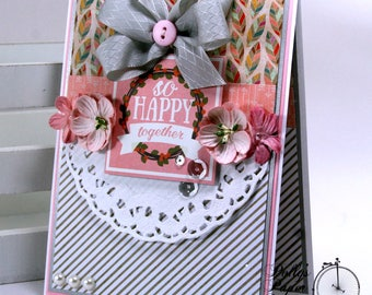 So Happy Together Greeting Card Polly's Paper Studio Handmade