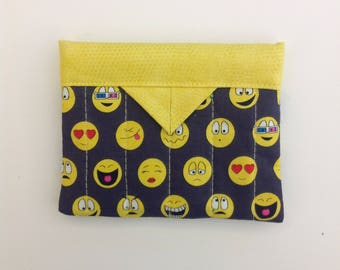 """Text Me Quilted Fabric Mini Snap Bag Purse Pouch 5"""" X 4"""""""