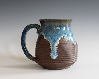 Coffee Mug, 13 oz, handthrown ceramic mug, stoneware pottery mug, unique coffee mug, stoneware mug, coffee mug pottery, pottery mug