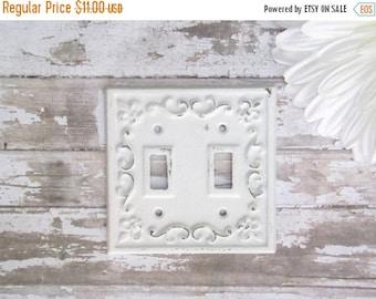 ON SALE Decorative Light Switch Plate / Fleur De lis / Light Plate / Light Switch Cover / Shabby Chic