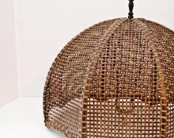 Antique Wicker Lamp Shade