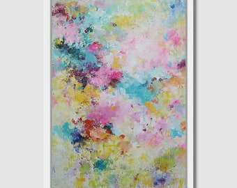 60X40''large painting,original art,original abstract painting canvas painting-abstract painting colorful abstract