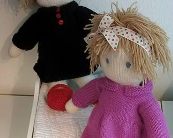 Doll Knitting Pattern pdf - Instant Download