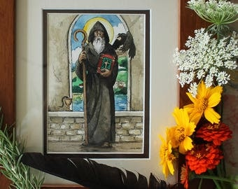 Custom Saint watercolor painting -choose your saint
