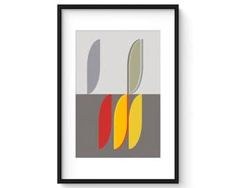 MODUS - VITALITY no.2 - Giclee Print - Mid Century Modern Danish Modern Minimalist Cubist Modernist Abstract Eames