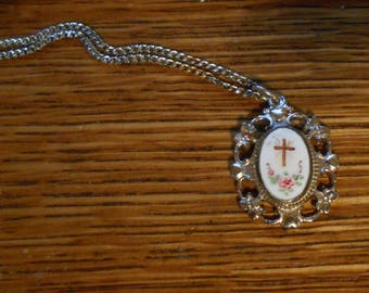 Vintage Necklace and Pendant - Creed - Catholic - Religious - Christian - Sterling
