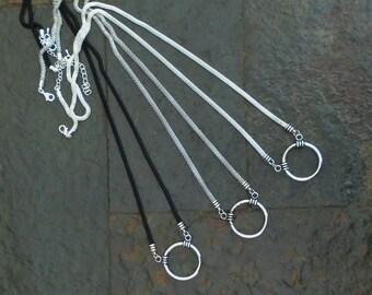 Beadable Glasses Holder Lanyard Necklace for Pendant, Glasses, ID, Keys, etc, Plain.