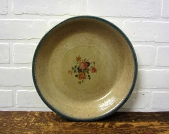 Monroe Salt Works Pie Pan Plate with Chippendale Rose Monroe Maine