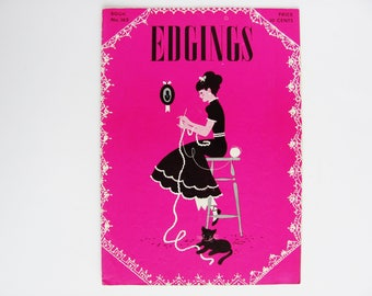 Edgings 1941 Crocheting Tatting Instruction Booklet 21 Pages The Spool Cotton Company Book No. 162