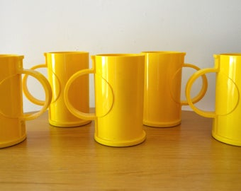 Mid Century DANSK Designs Gunnar Cyren Yellow Mug Set
