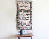 Vintage Woven Embroidered Table Runner / Wall Hanging / Handmade / South American Weaving