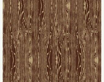 SALE 10% Off - Woodgrain in Bark  JD42 - Joel Dewberry - Aviary 2 -  Free Spirit Fabric  - By the Yard