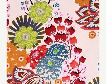 SALE 10% Off - Summer Totem in Grapefruit AH37 - Loulouthi by Anna Maria Horner for Free Spirit Fabrics - By the Yard
