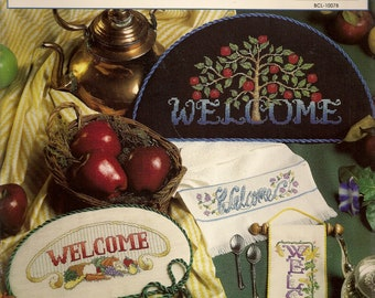 Counted Cross Stitch Welcome Home Signs Cross Stitch Patterns Leaflet Stitch World Vintage Cross Stitch Patterns
